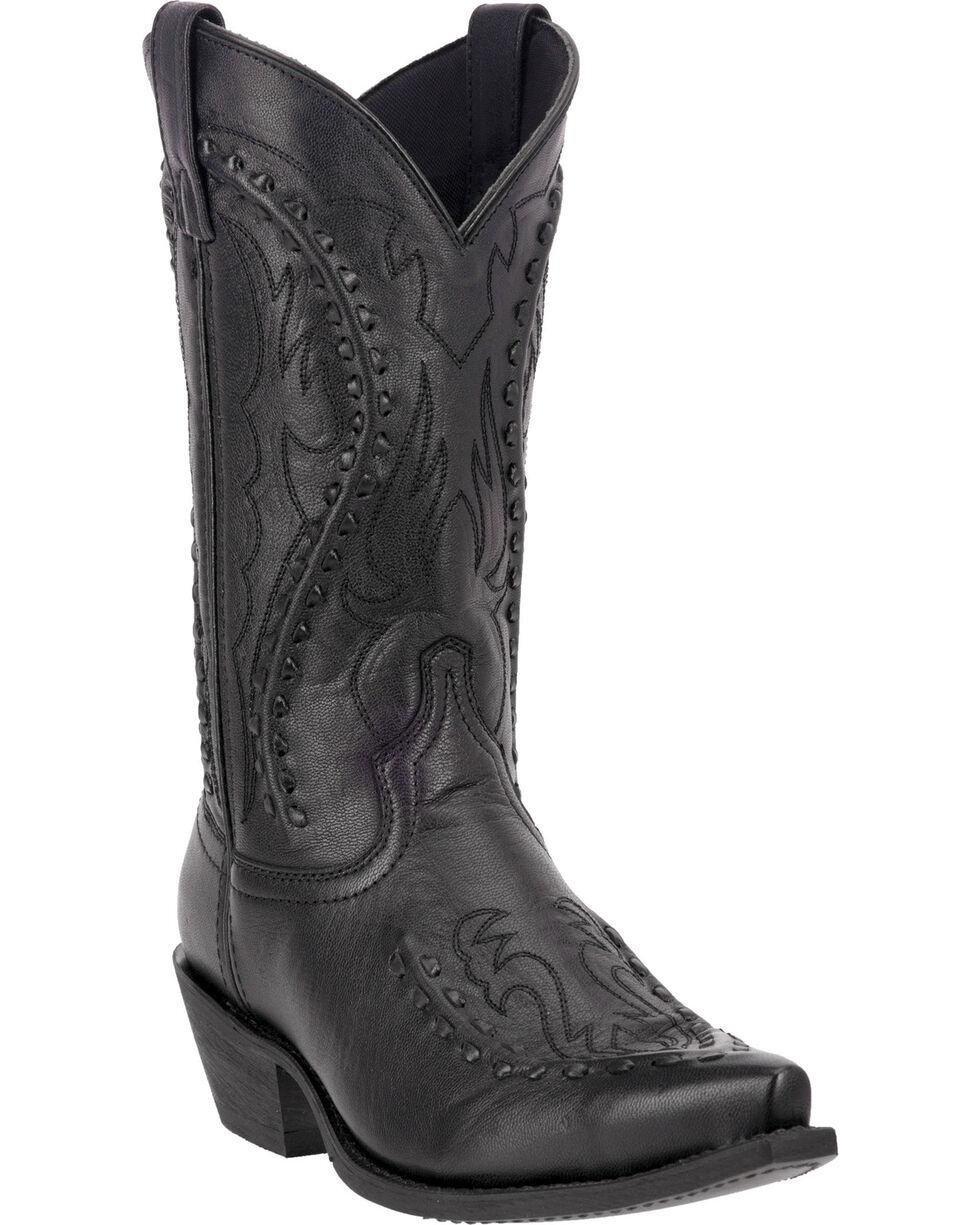 Laredo Men's Laramie Snip Toe Western Boots, Black, hi-res