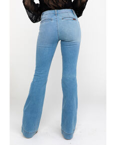 Wrangler Retro Women's Bellemount Mid Rise Wide Boot Jeans , Blue, hi-res