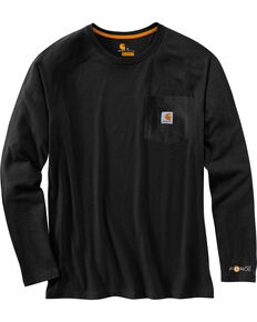 Carhartt Men's Long Sleeve Force T-Shirt, Black, hi-res