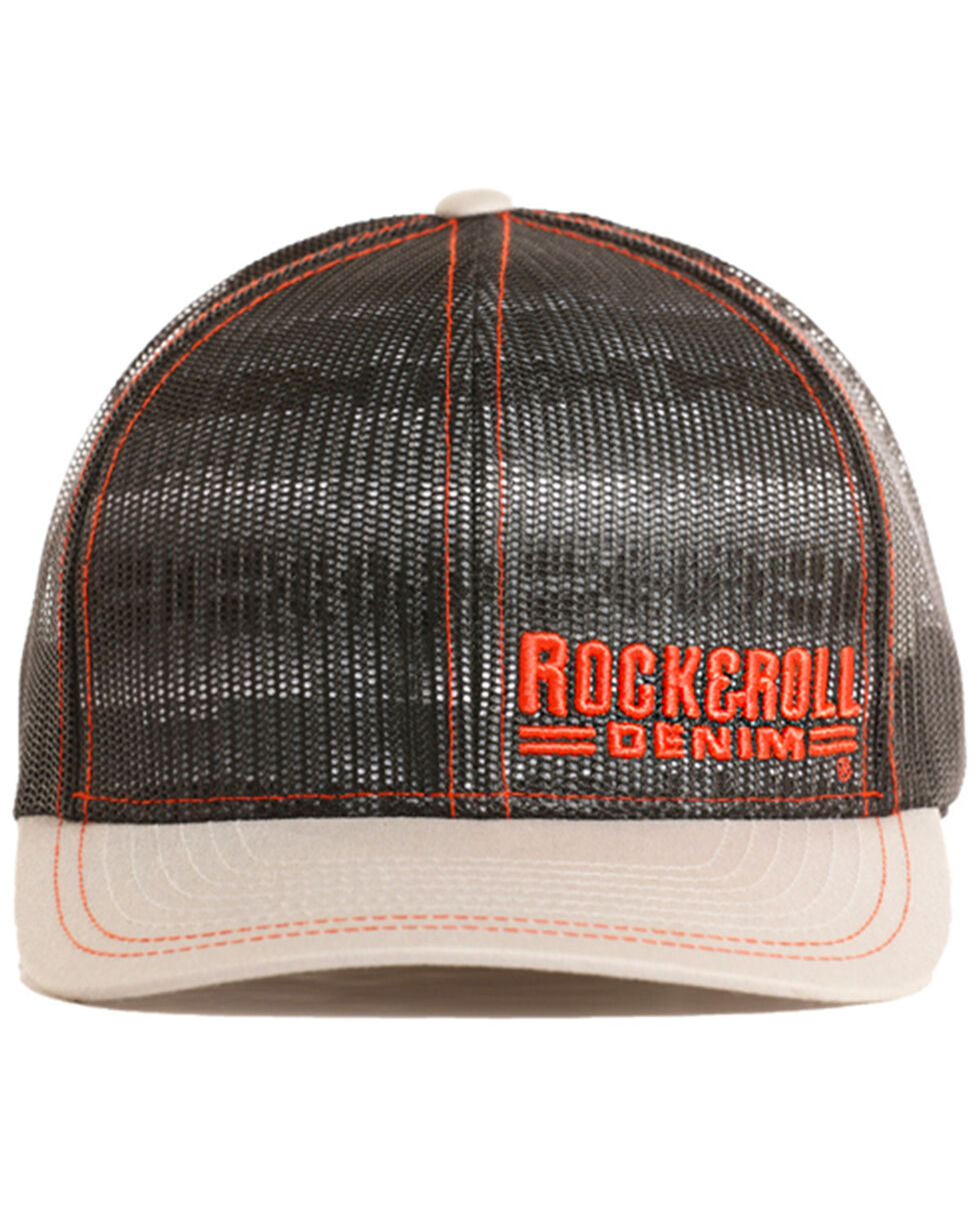 Rock & Roll Denim Men's Aztec Under Mesh Cap, Grey, hi-res