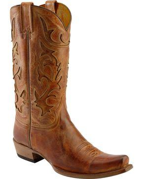 Stetson Men's Crack Whiskey Western Boots, Honey, hi-res