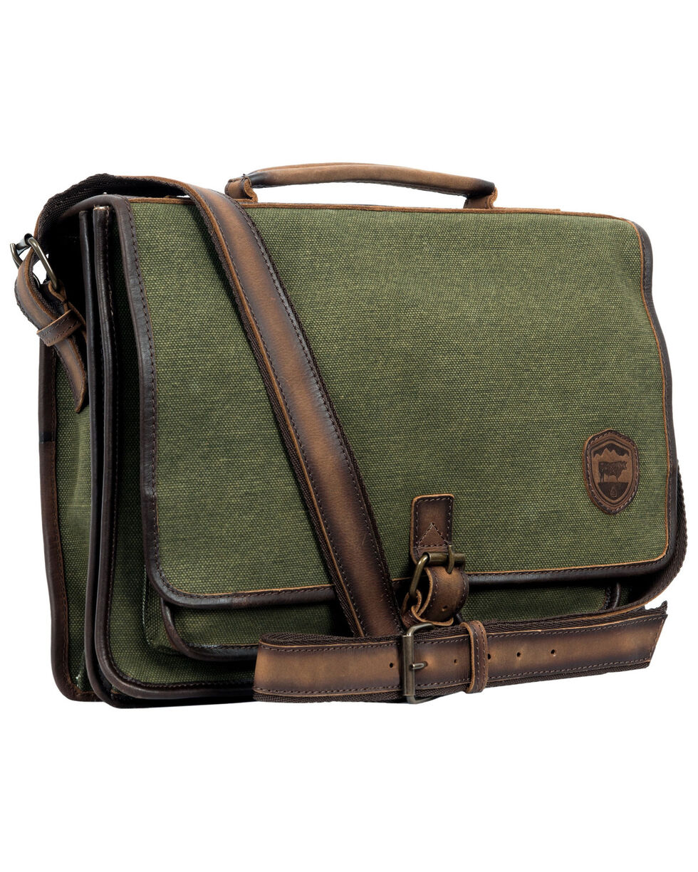 STS Ranchwear Military Green Canvas Portfolio, No Color, hi-res