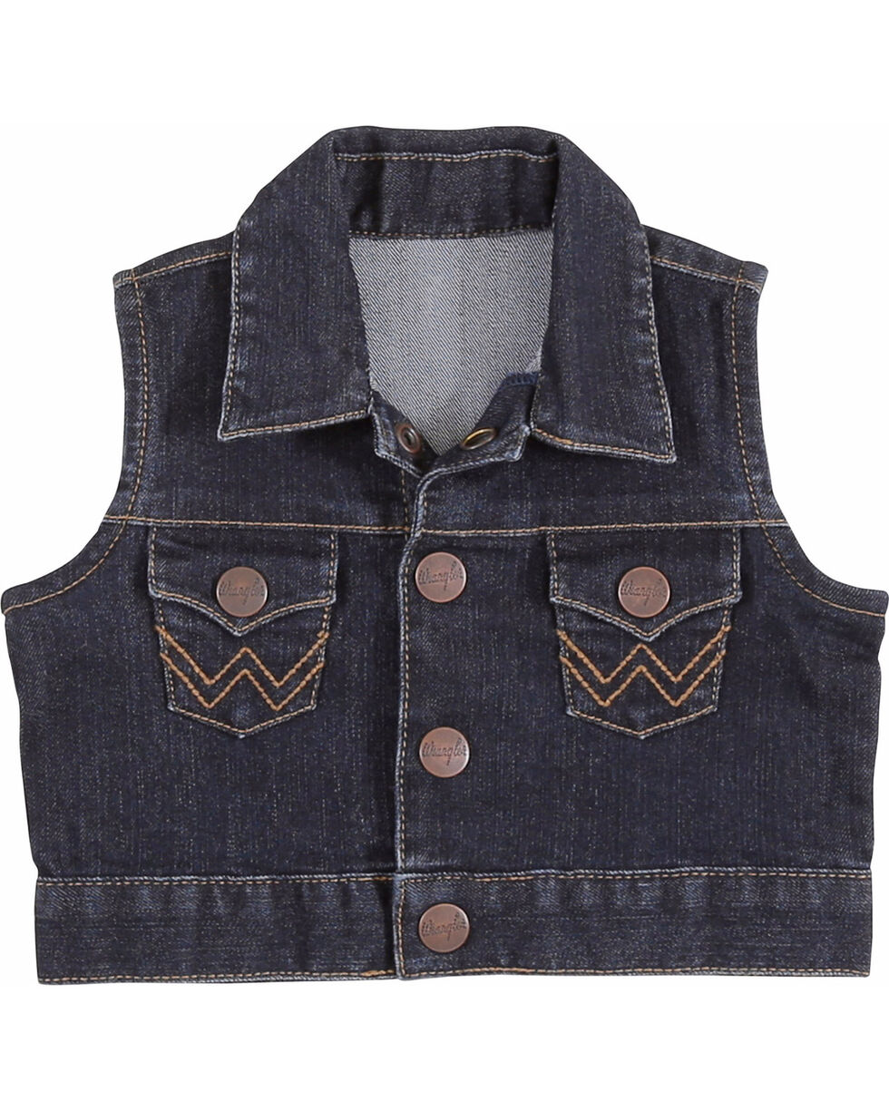 Wrangler Toddler Girls' Denim Vest - (2T-6), Indigo, hi-res