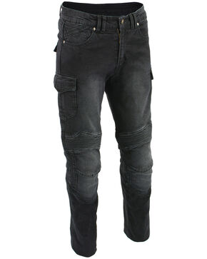 "Milwaukee Leather Men's Black 34"" Aramid Reinforced Straight Cut Denim Jeans, Black, hi-res"