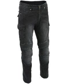 "Milwaukee Leather Men's Black 34"" Aramid Reinforced Straight Cut Denim Jeans - Big, Black, hi-res"