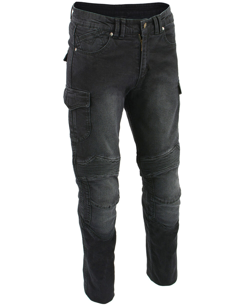 "Milwaukee Leather Men's Black 34"" Aramid Reinforced Straight Cut Denim Jeans - XBig, , hi-res"