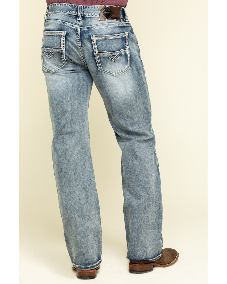 Rock & Roll Denim Men's Double Barrel Light Reflex Stretch Relaxed Straight Jeans , Blue, hi-res