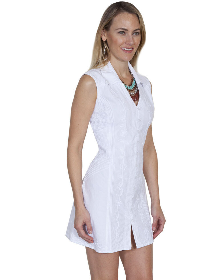 5e3a83a7 Zoomed Image Cantina by Scully Women's White Button Down Dress, White,  hi-res