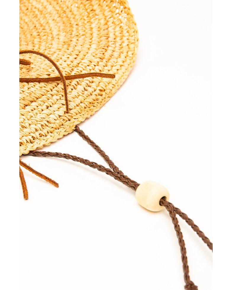 7c3eb5540 San Diego Hat Co. Women's Crochet Raffia Two Strand Bead Hat