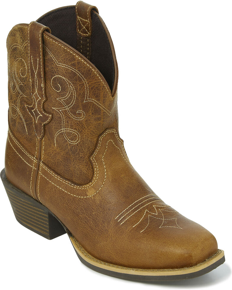 """Justin Gypsy Women's 7"""" Chellie Tan Cowgirl Boots - Square Toe, Tan, hi-res"""