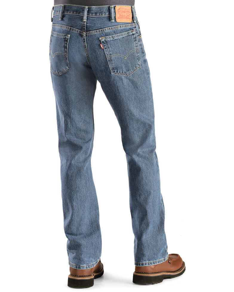 Levi's Men's 517 Prewashed Low Slim Bootcut Jeans , Stonewash, hi-res