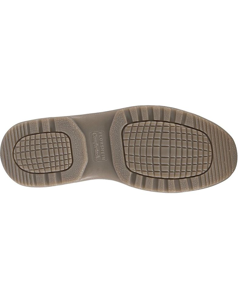 Florsheim Men's Lucky Slip-On Shoes - Steel Toe, Brown, hi-res