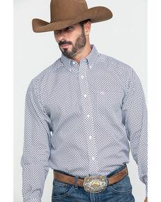 Ariat Men's Wrinkle Free Ilcott Geo Print Long Sleeve Western Shirt - Tall  , Multi, hi-res