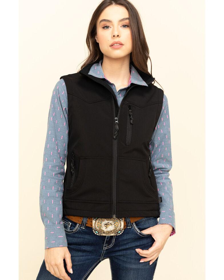 STS Ranchwear Women's Barrier Zip Vest , Black, hi-res