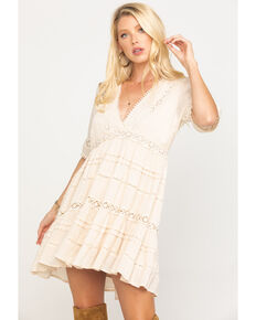 By Together Women's Ivory Crochet Dress, Ivory, hi-res