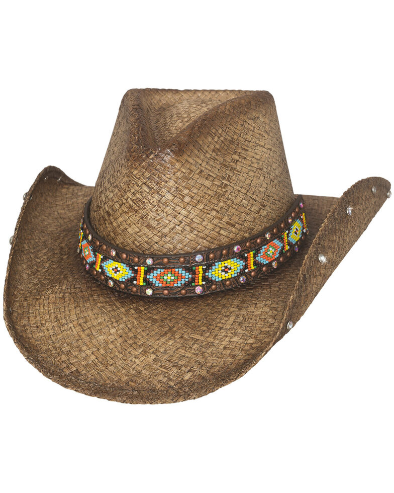 Bullhide Women's Love Myself Straw Hat, Brown, hi-res