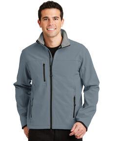 Port Authority Men's Atlantic Blue Chrome Glacier Soft Shell Work Jacket , Royal Blue, hi-res