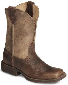 Ariat Kid's Rambler Western Boots, Earth, hi-res