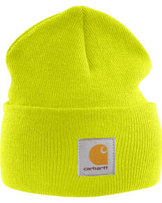 Carhartt Men's Acrylic Watch Hat, Lime, hi-res