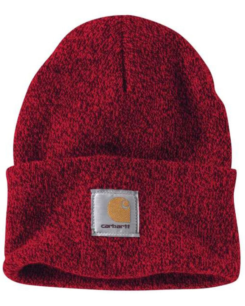 Carhartt Men's Red Acrylic Watch Work Hat , Red, hi-res