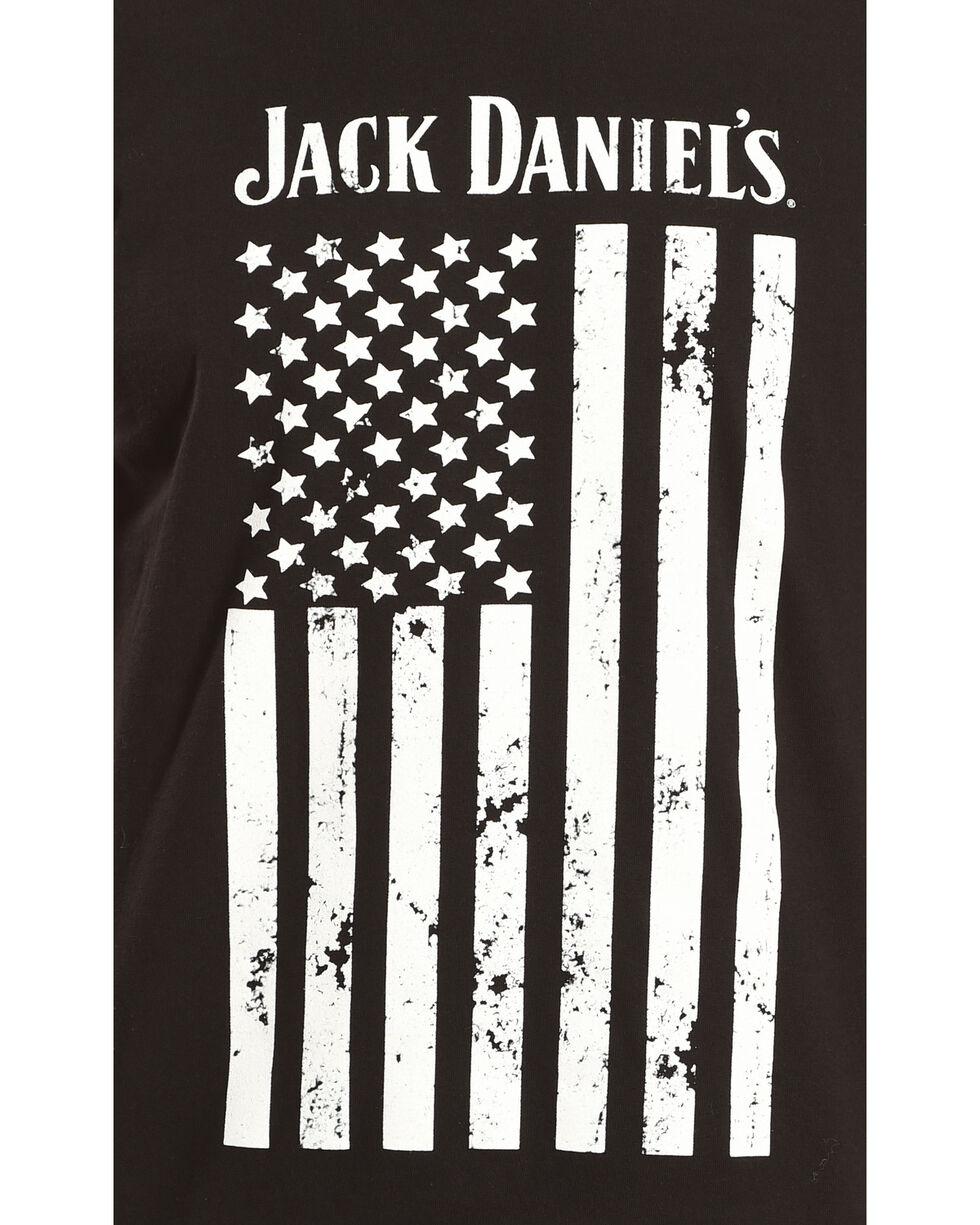 Jack Daniel's Men's Distressed Flag Tee, Black, hi-res