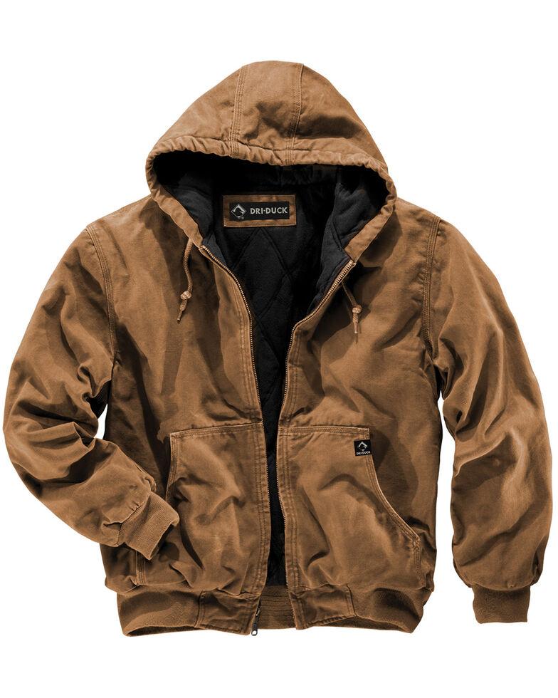 Dri Duck Men's Cheyenne Hooded Work Jacket - Big Sizes (3XL - 4XL), Tan, hi-res