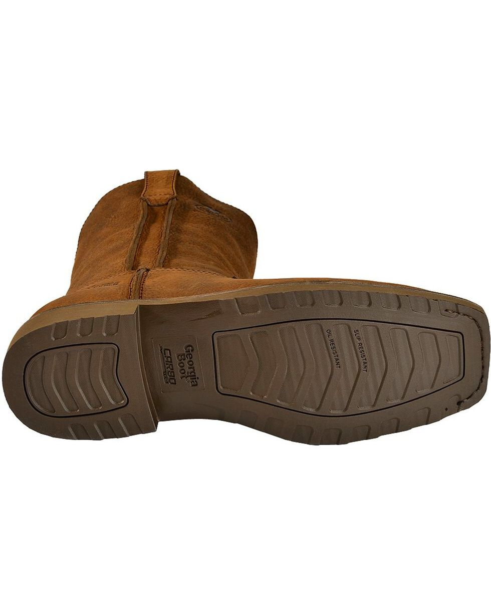 Georgia Men's Carbo Tec Wellington Work Boots, Brown, hi-res