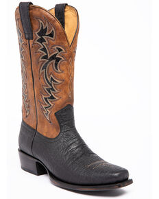 Moonshine Spirit Men's Elephant Print Western Boots - Narrow Square Toe, Black, hi-res