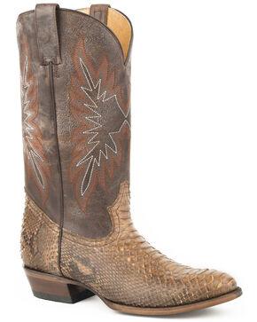 Stetson Men's Brown Snake Eyes Python Boots - Medium Toe , Brown, hi-res