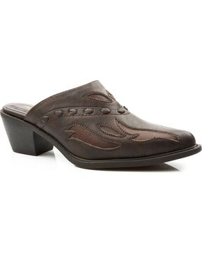 Roper Women's Western Mules, Brown, hi-res