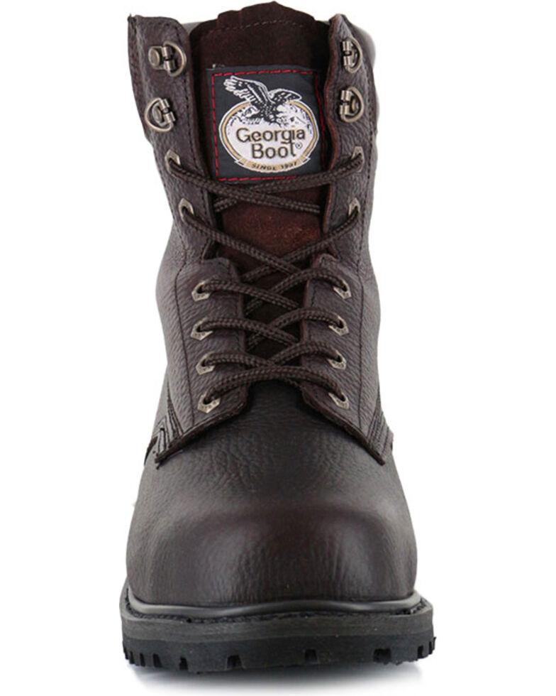 Georgia Men's Steel Toe Oiler Work Boots, Brown, hi-res