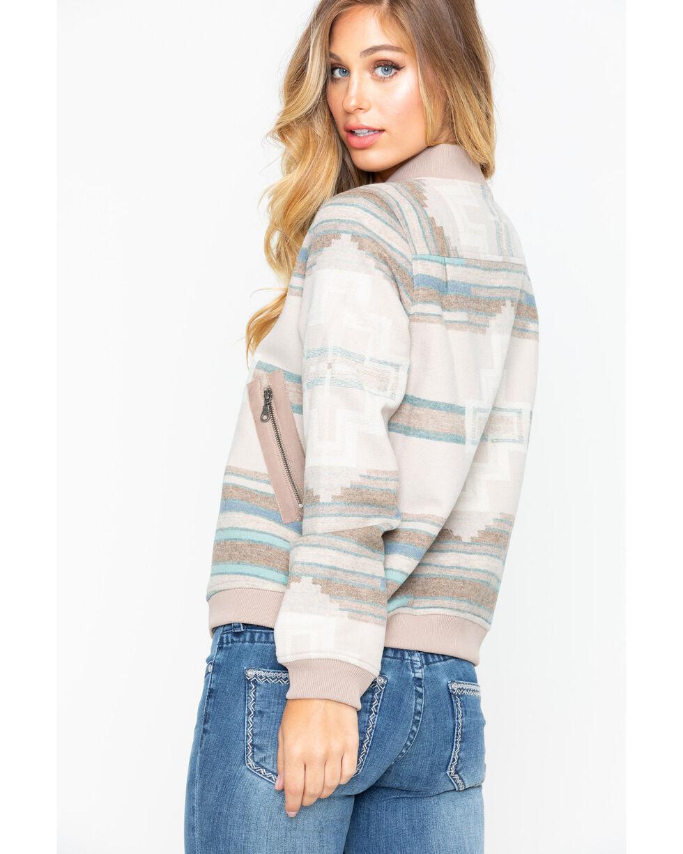 Pendleton Women's Pacific Wool Bomber Jacket , Tan, hi-res