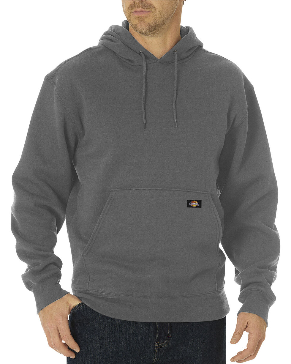 Dickies Midweight Fleece Work Hoodie - Big & Tall, Dark Grey, hi-res