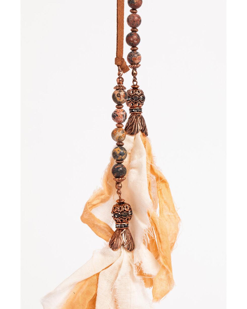 Shyanne Women's Tassel Wrap Choker, Rust Copper, hi-res