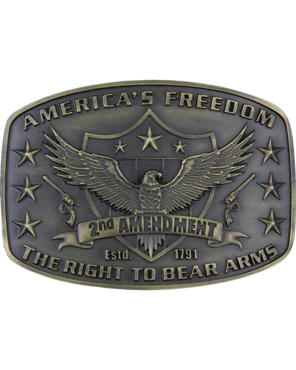 Montana Silversmith's 2nd Amendment Heritage Attitude Buckle, Gold, hi-res