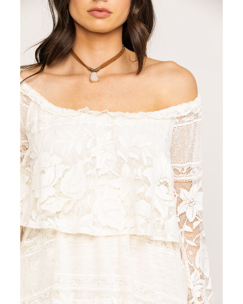 Show Me Your Mumu Women's Bess Moonlight Roses Lace Dress , Cream, hi-res