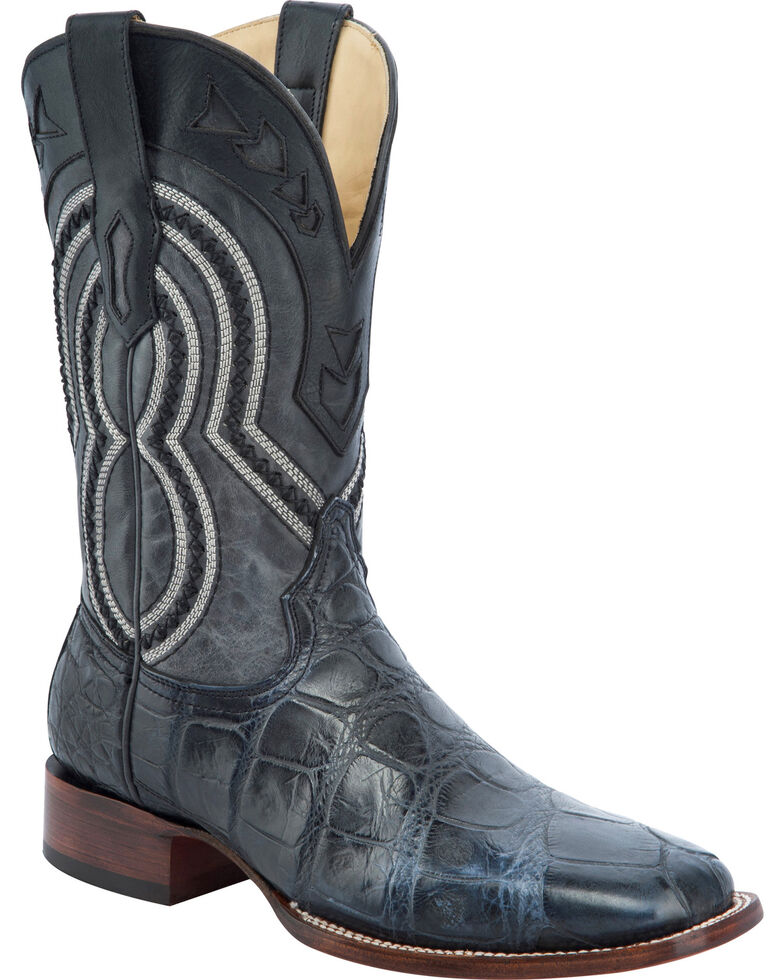Corral Men's Alligator Exotic Western Boots, Grey, hi-res