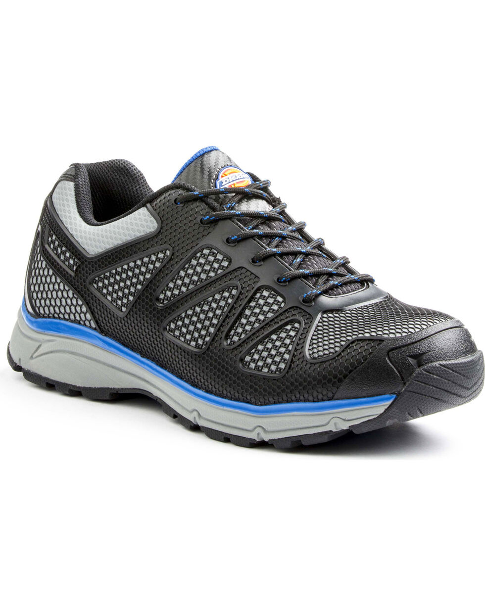 Dickies Men's Fury Low Work Shoes - Steel Toe, Blue, hi-res