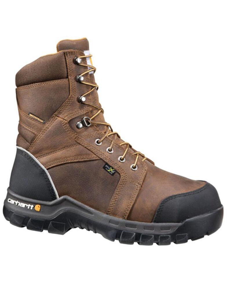 "Carhartt Men's Brown 8"" Internal Met Guard Work Boots - Composite Toe , Brown, hi-res"