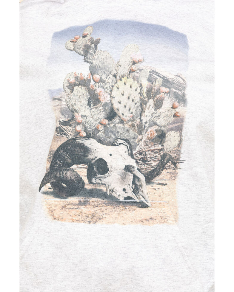 Cowgirl Tuff Women's Desert Scene Hoodie , Grey, hi-res