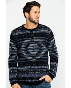 Moonshine Spirit Men's Durango Aztec Print Sweatshirt, Black, hi-res