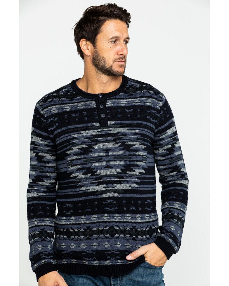 Moonshine Spirit Men's Durango Aztec Print Sweatshirt, Black, hi-res