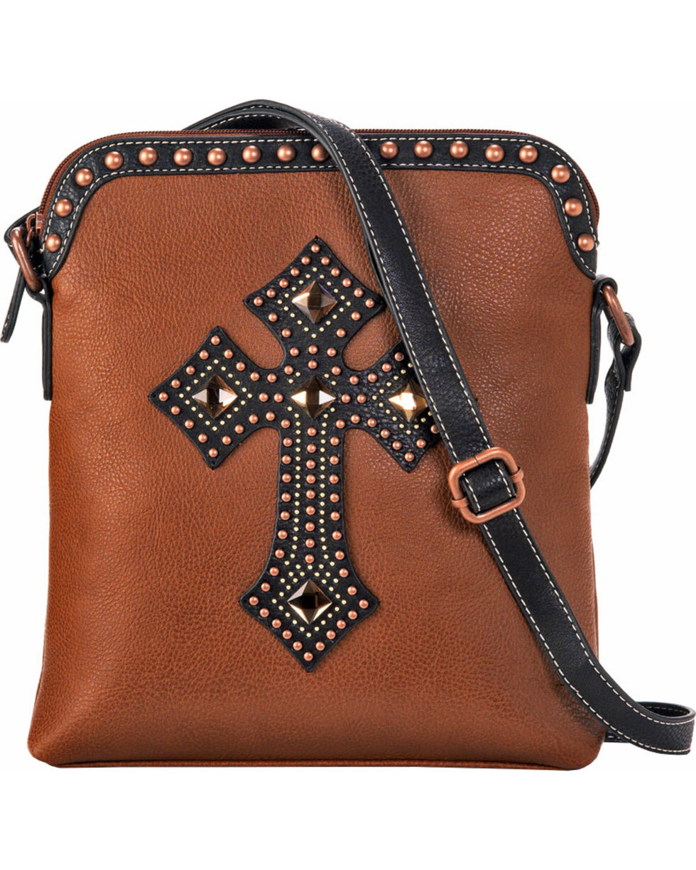 Blazin Roxx Women's Embellished Cross Shoulder Bag, Rust Copper, hi-res