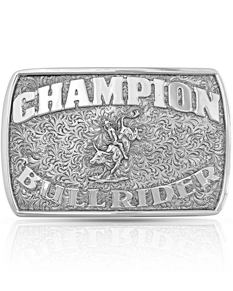 Montana Silversmiths Champion Bull Rider Buckle, Silver, hi-res