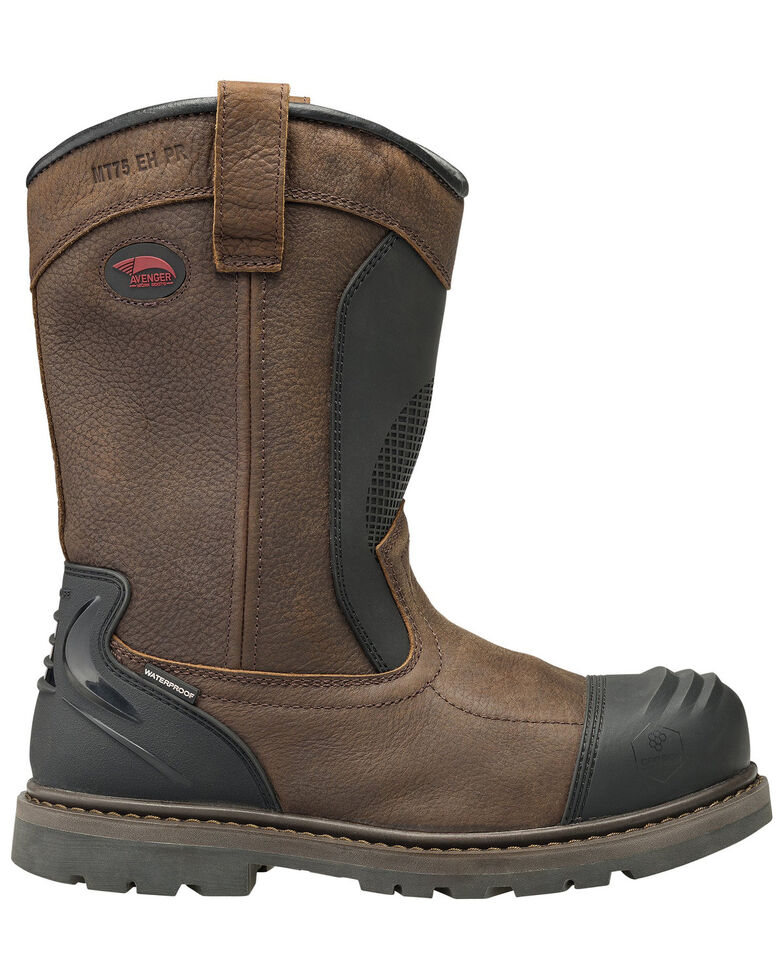 Avenger Men's Hammer Met Guard Western Work Boots - Carbon Safety Toe, Brown, hi-res