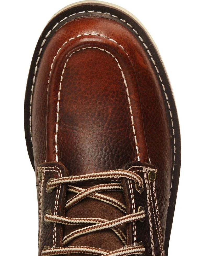 """Dickies Trader 6"""" Lace-Up Work Boots - Round Toe, Red Oak, hi-res"""