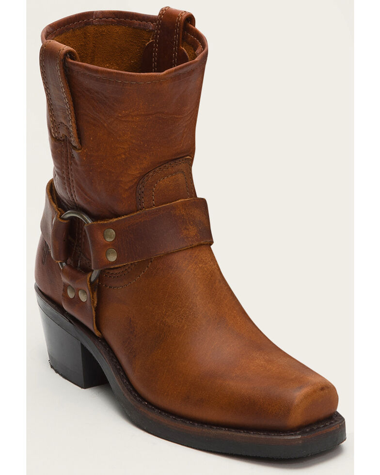 Frye Women's Harness 8R Boots - Square Toe , Cognac, hi-res