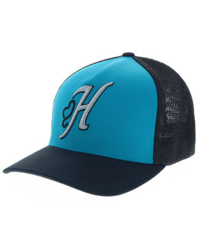 HOOey Men's Skipper Flexfit Cap, Aqua, hi-res