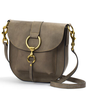 Frye Women's Grey Ilana Saddle Bag, Grey, hi-res