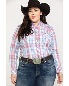 Ariat Women's R.E.A.L. Lovely Plaid Long Sleeve Western Shirt - Plus, Multi, hi-res